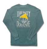 T-Shirt Comfort Colors® Long Sleeve Pocket Tee in Sea Foam