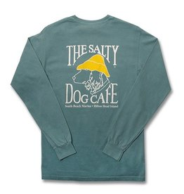 T-Shirt Comfort Colors® Long Sleeve Pocket Tee in Sea Foam