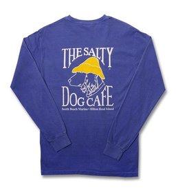 T-Shirt Long Sleeve Comfort Soft Pocket Tee in Flo Blue