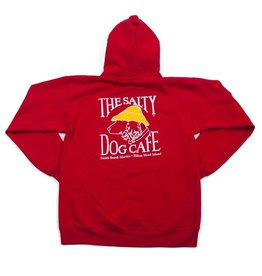 Sweatshirt Hanes Hooded Sweatshirt in Deep Red