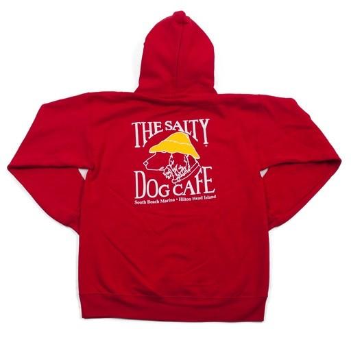 Hanes Hanes Hooded Sweatshirt in Deep Red