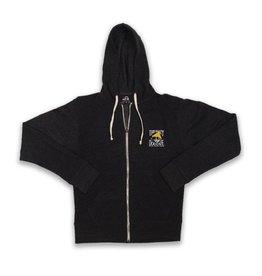 Full-zip Hooded Sweatshirt in Black
