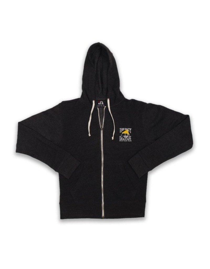 Sweatshirt Full-zip Hooded Sweatshirt in Black