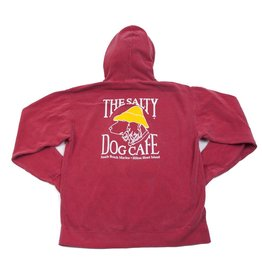Sweatshirt Stonewashed Hooded Sweatshirt in Crimson