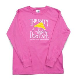 LAT Apparel Youth Long Sleeve in Hot Pink