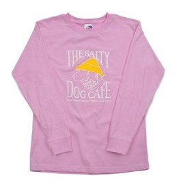 LAT Apparel Youth Long Sleeve in Light Pink