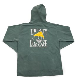 Sweatshirt Stonewashed Hooded Sweatshirt in Light Green
