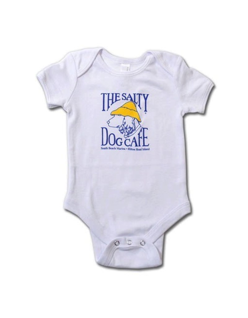 LAT Apparel Infant Romper in White