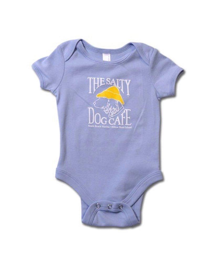 LAT Apparel Infant Romper in Light Blue