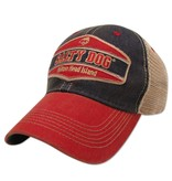 Hat Old Favorite Trucker Hat in Navy/Scarlet