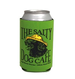 Salty Dog Can Holder in Fluorescent Green