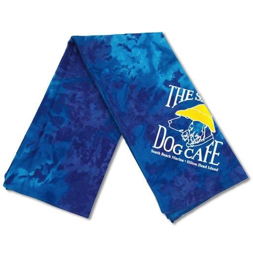 Salty Dog Blue Tie Dye Large Bandana