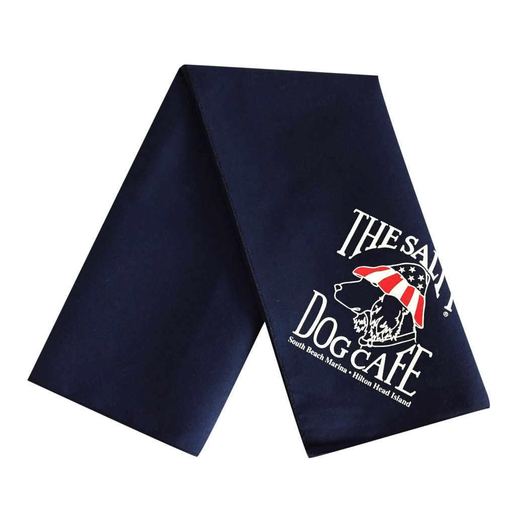 Salty Dog Patriot Dog Navy Large Bandana