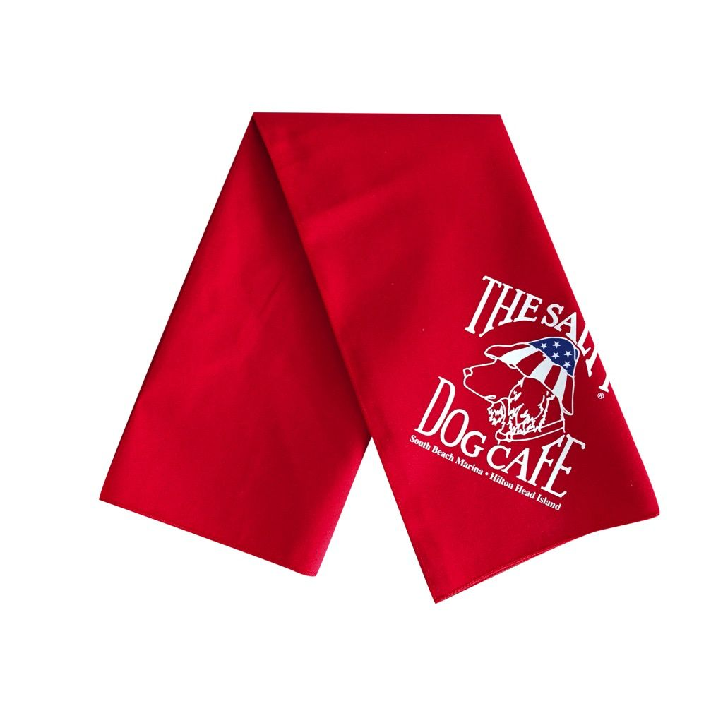 Salty Dog Patriot Dog Red Large Bandana