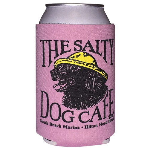 Salty Dog Can Holder in Pastel Pink