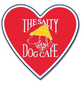 Salty Dog Heart Sticker - Large
