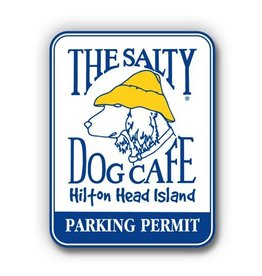 Salty Dog Parking Permit Sticker - Parking Permit