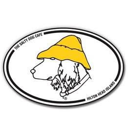 Salty Dog Oval Sticker - Oval