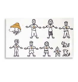 Product 10 piece Vinyl Family Sticker Kit