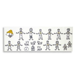 Product 19 piece Vinyl Family Sticker Kit