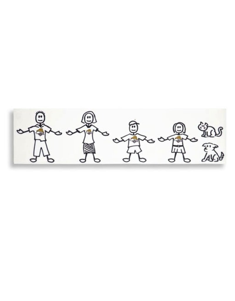 Product 6 piece Vinyl Family Sticker Kit