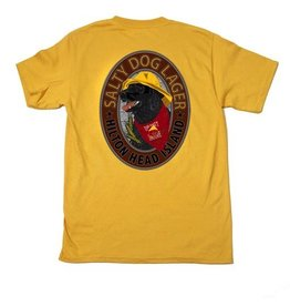 T-Shirt Lager Dog in Mustard