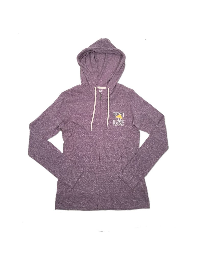 Outerwear Full Zip Slub Hooded Sweatshirt in Majestic