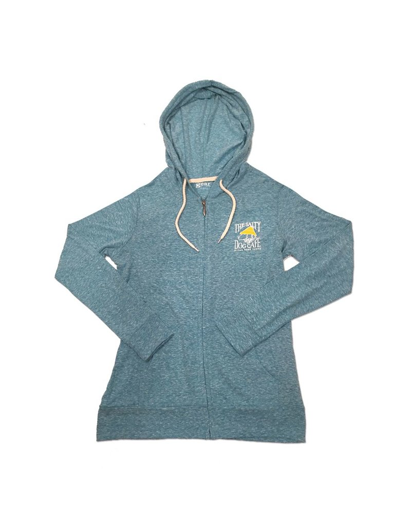 Outerwear Full Zip Slub Hooded Sweatshirt in Mosaic