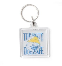 Salty Dog Clear Keychain