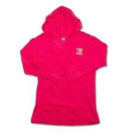Sweatshirt Ladies Hooded Pullover in Hot Pink
