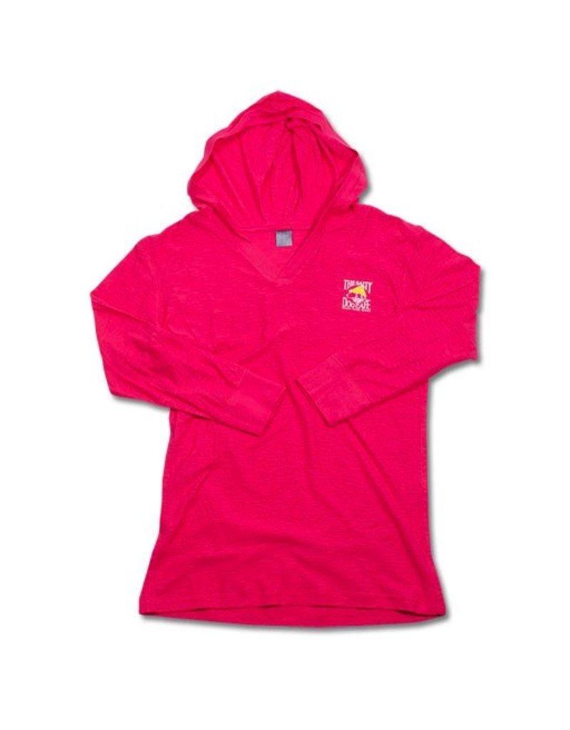 Sweatshirt Ladies Hooded Pullover in Hot Pink