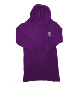 Sweatshirt Ladies Hooded Pullover in Very Berry