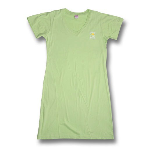 LAT Apparel V-Neck Beach Cover Up in Key Lime