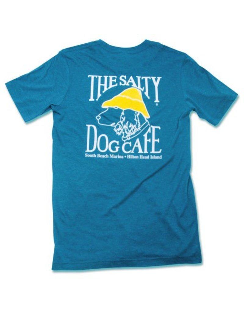 T-Shirt Tri-Blend Short Sleeve in Aqua