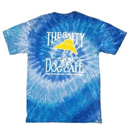 T-Shirt Tie Dye Short Sleeve in Blue Jerry