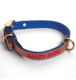 Pet Royal Blue Leather Collar