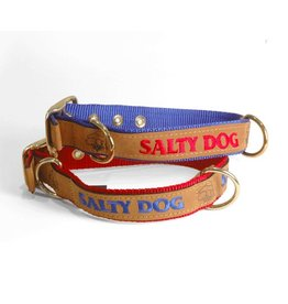 Salty Dog Red Leather Collar