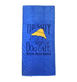 Salty Dog Woven Beach Towel in French Blue