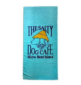 Salty Dog Woven Beach Towel in Ocean Blue