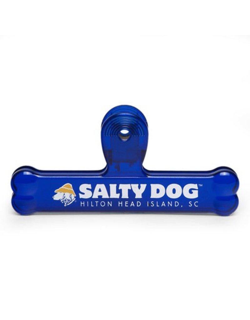 Salty Dog Bone Bag Clip in Blue