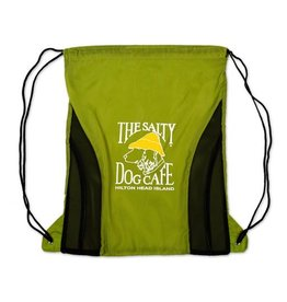 Salty Dog Drawstring Bag in Lime