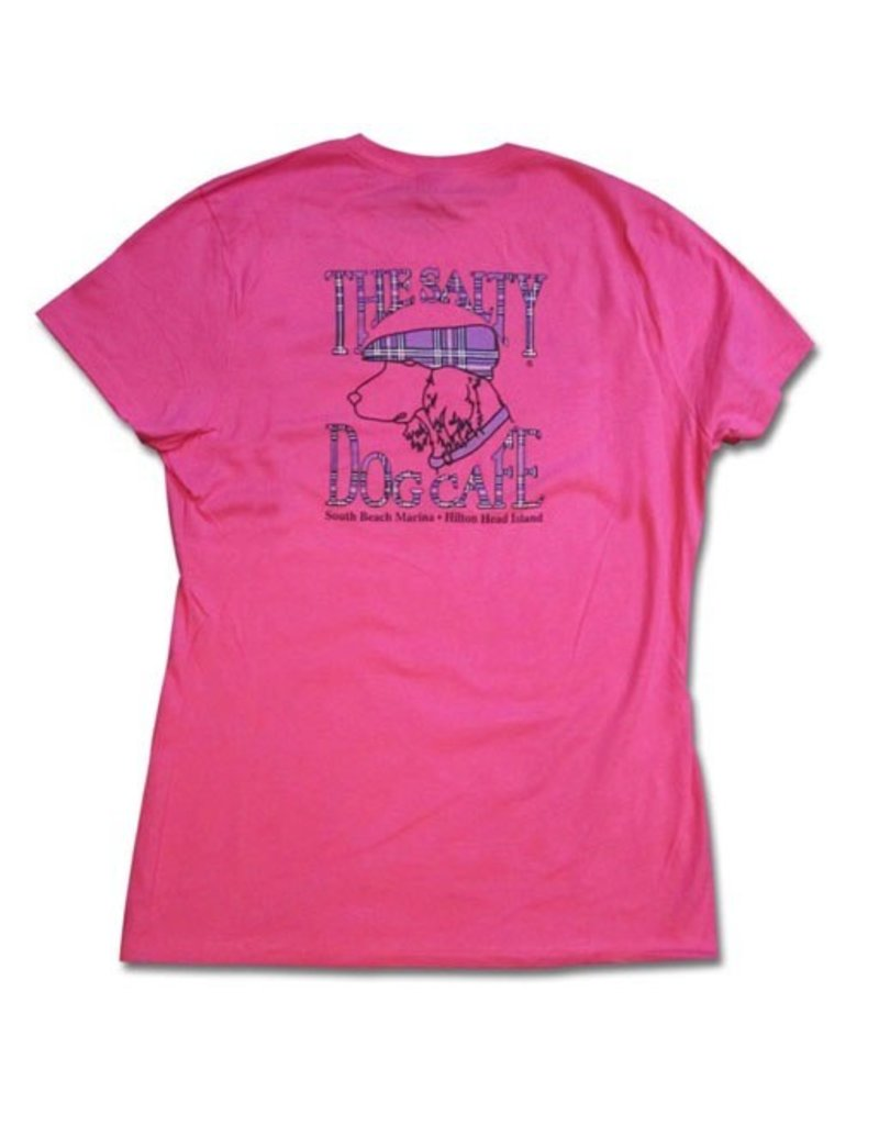 Hanes Women's Plaid Dog in Wow Pink
