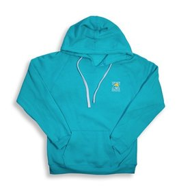 Sweatshirt Women's V-Neck Hoody in Turqberry