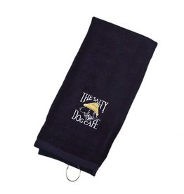 Salty Dog Embroidered Golf Towel in Navy