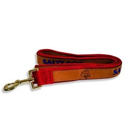 Salty Dog Leather Leash in Red