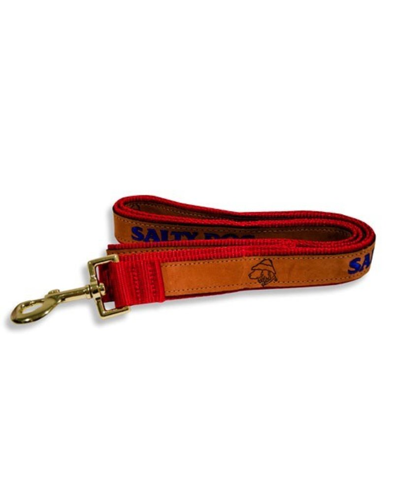 Pet Leather Leash in Red