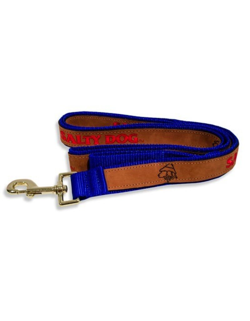 Pet Leather Leash in Royal