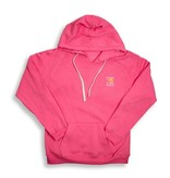Sweatshirt Women's V-Neck Hoody in Neon Pink