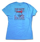 Hanes Women's Plaid Dog in Aquatic Blue