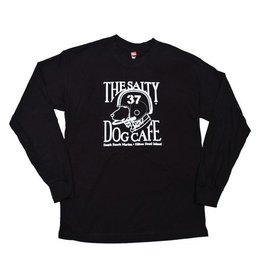 Specialty Prints Youth Football Dog Long Sleeve Tee in Black
